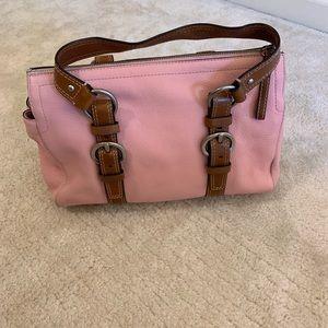 Coach light pink, brown shoulder bag K0782 F10887